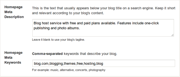 good blog description examples