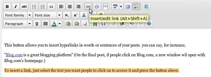 Visual Editor - Adding Links